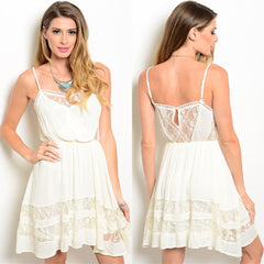 Ivory And Lace Dress
