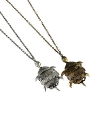 Tiny Turtle Pendant Necklace