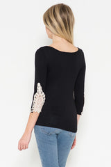 Lace Detail 3/4 Sleeve