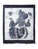 Bai Indigo Butterfly Dancer Tapestry
