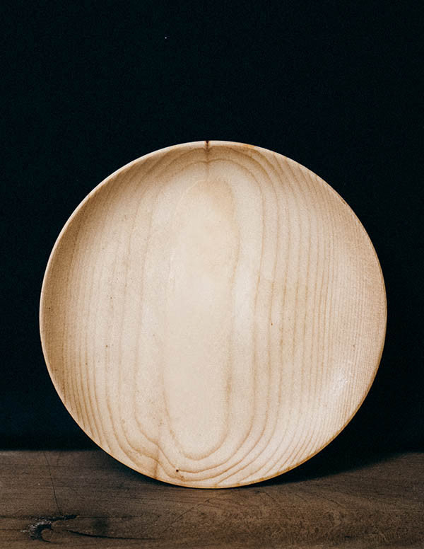 Japanese Cypress Wooden Plate