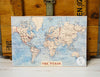 Set of 3 World Map Wall Poster