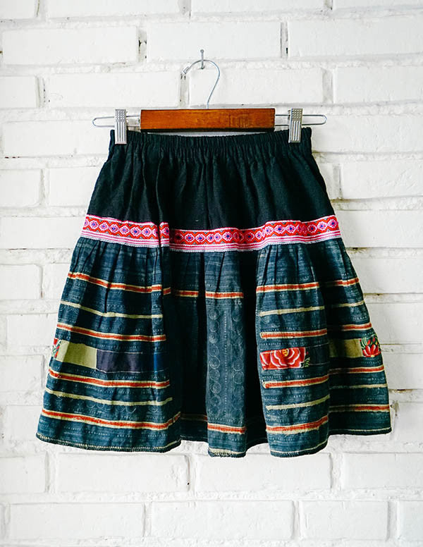Denim Spring Hmong Hilltribe Skirt