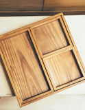 Teakwood Lunch Tray