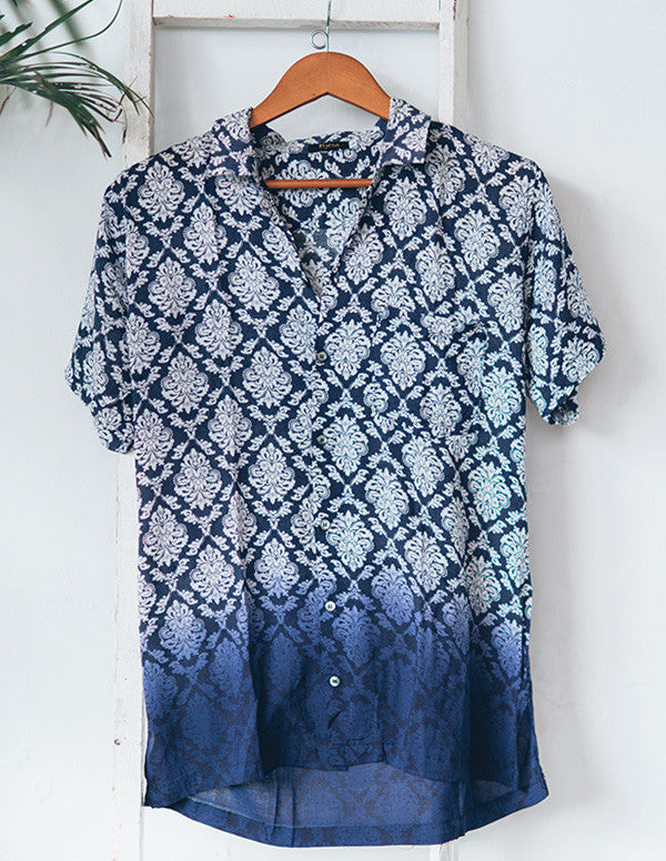 Madras Indigo Cotton Shirt
