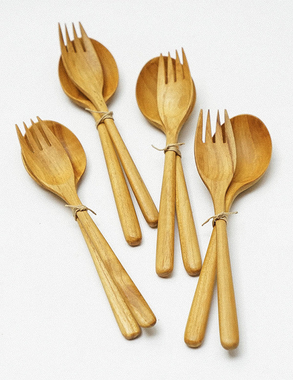 Teakwood Spoon & Fork Set
