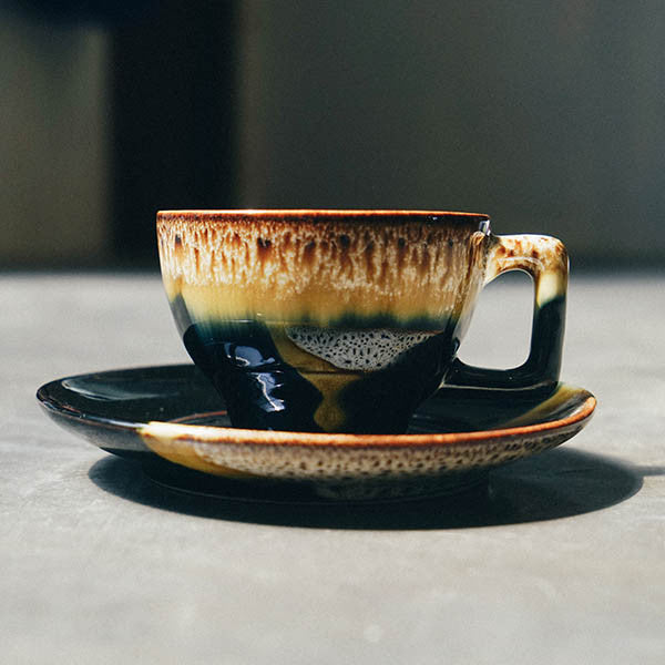 Midnight Coffee Cup + Saucer