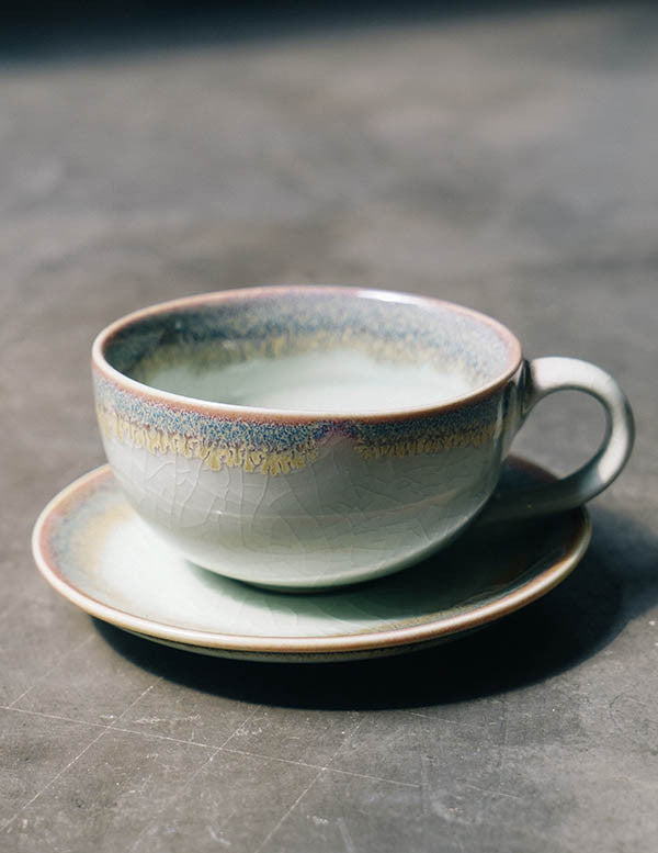 Jade Coffee Cup + Saucer