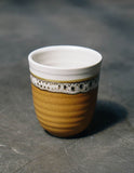 Caramel Latte Ceramic Short Glass