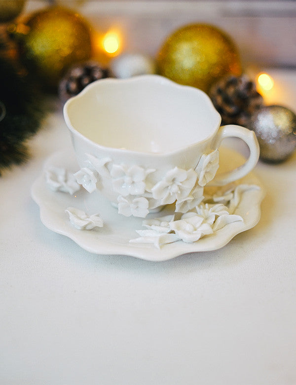 Wildflowers Ornate Teacup & Saucer