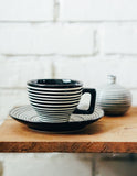 Infinite Line Coffee Cup + Saucer