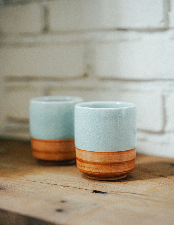Celadon Rustic Glass