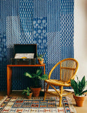Indigo Kantha Patchwork Throw Blanket