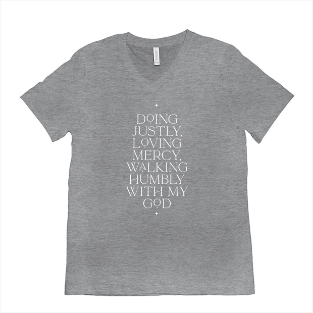 The Doing Justly | V-Neck Tee