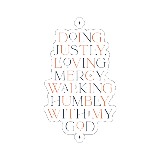 The Doing Justly | Sticker