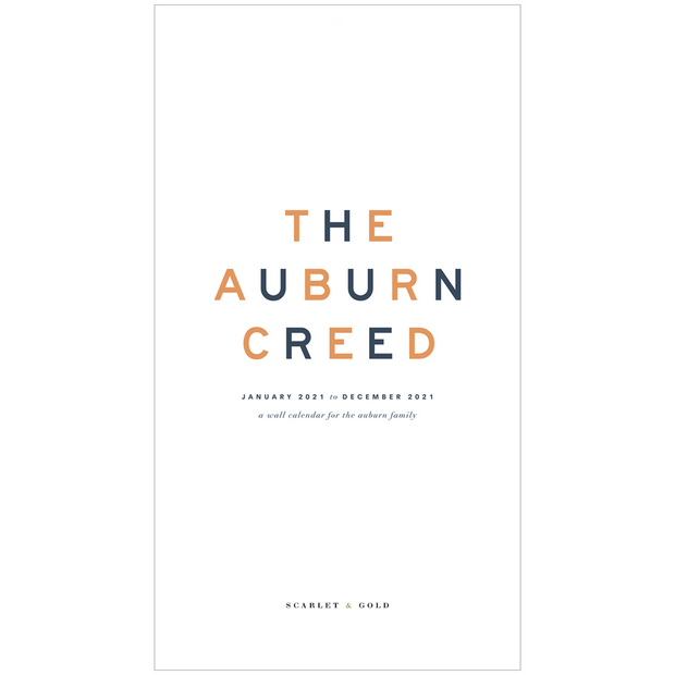 The Auburn Creed | 2021 Wall Calendars