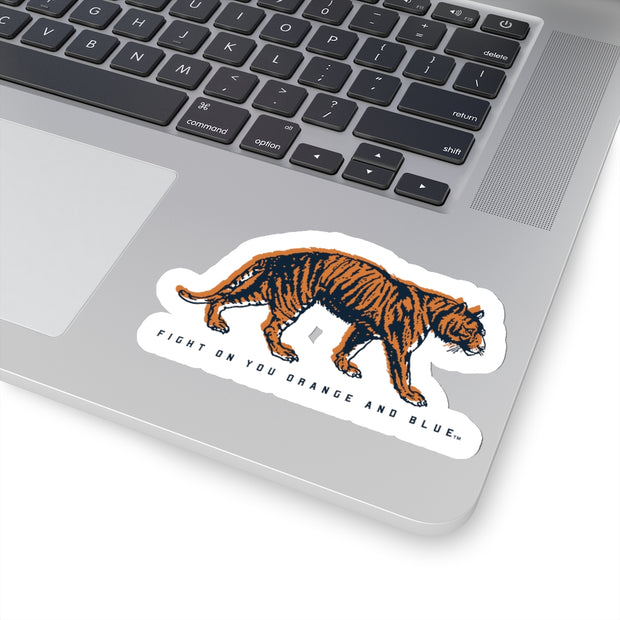 The Fight On Orange & Blue | Sticker