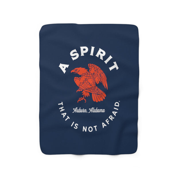 The Spirit Not Afraid | Sherpa Fleece Blanket