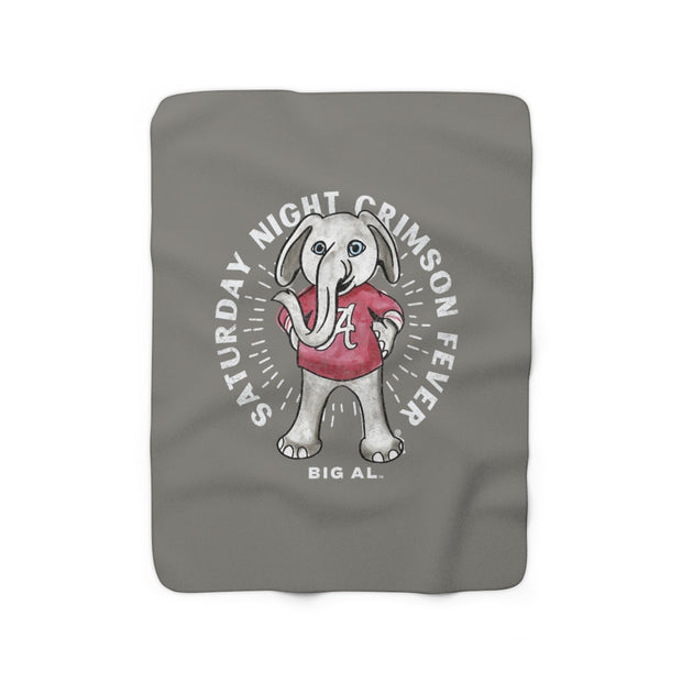 The Retro Big Al | Sherpa Fleece Blanket