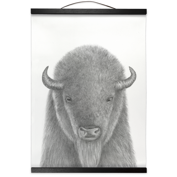 The Buffalo | Hanging Canvas Print