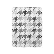 The Houndstooth | Sherpa Fleece Blanket