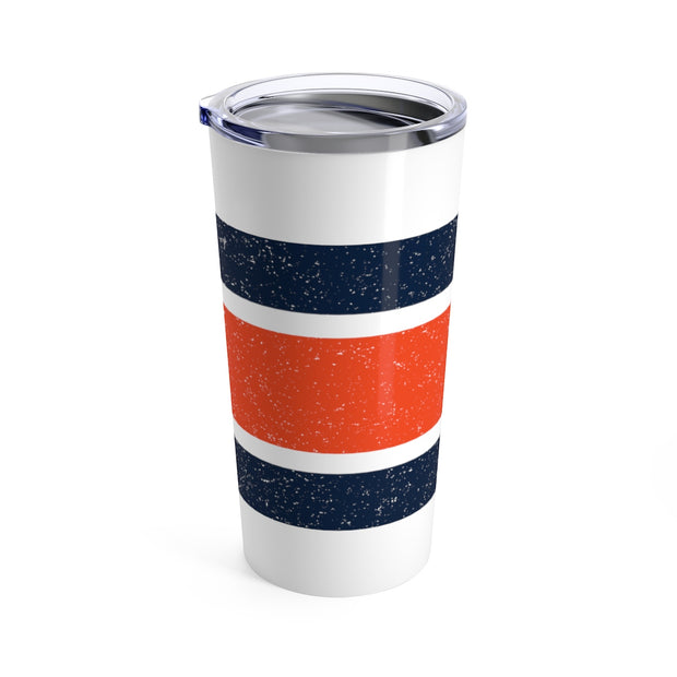 The Orange and Blue Stripes | Tumbler 20oz