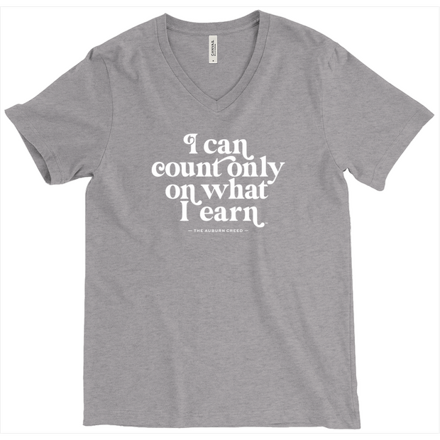 The What I Earn | Triblend V-Neck Tee