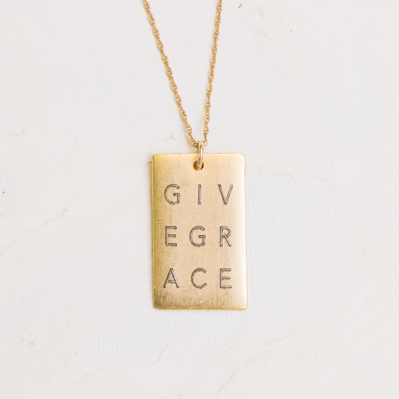 Give Grace Dogtag | Necklace