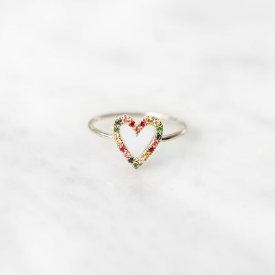 The Rainbow Heart | Ring