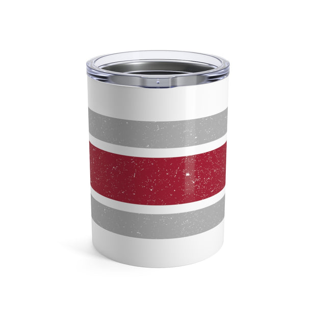 The Crimson and White Stripes | 10 oz. Tumbler