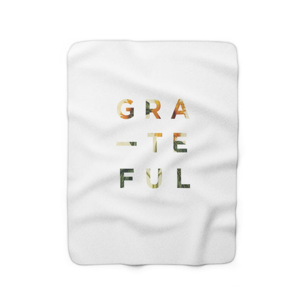 The Grateful White | Sherpa Fleece Blanket