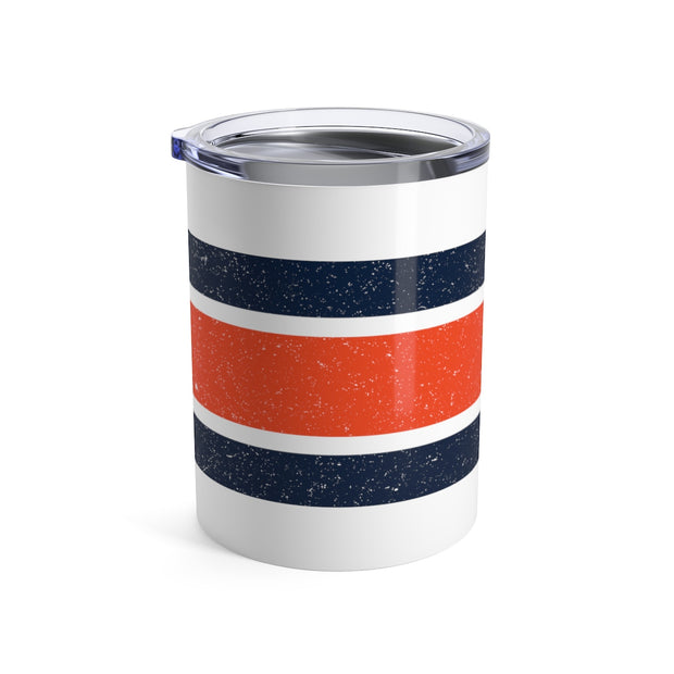 The Orange and Blue Stripes | Tumbler 10oz