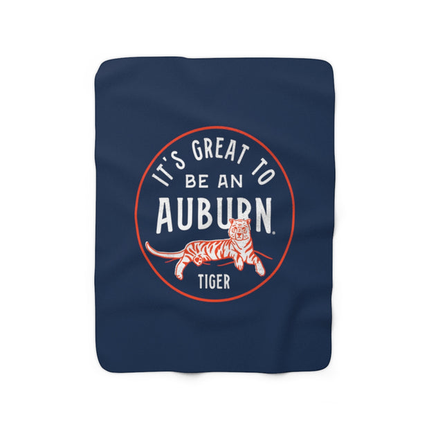 The It's Great To Be an Auburn Tiger | Sherpa Fleece Blanket