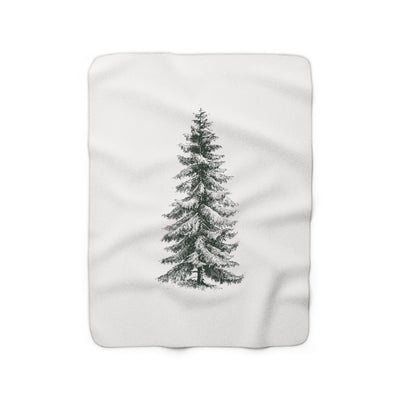 The Christmas Pine Light | Sherpa Fleece Blanket