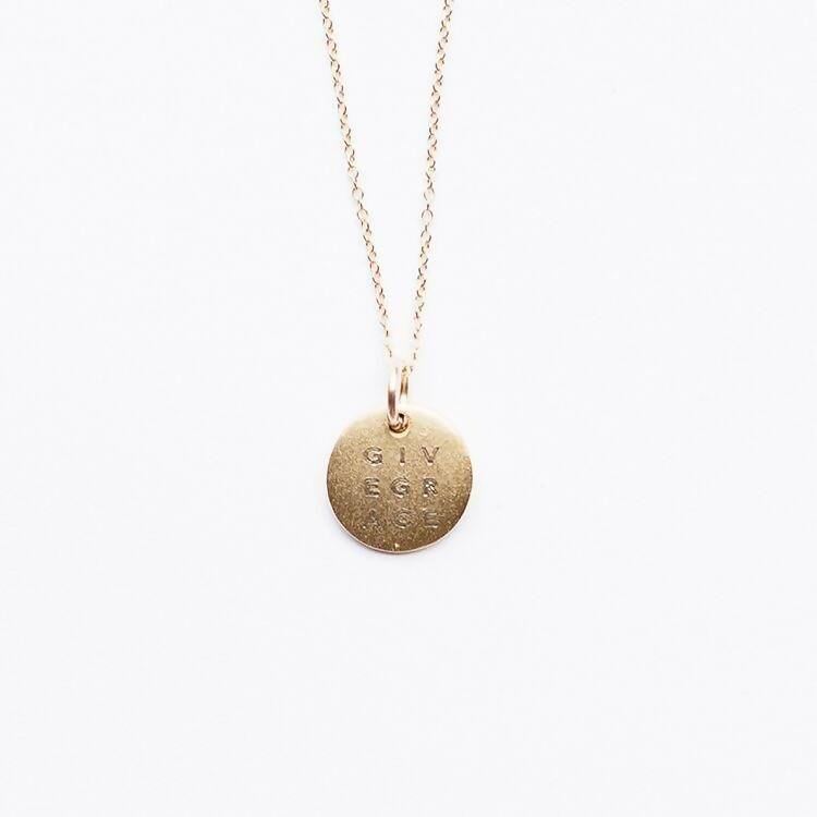 Give Grace Mini Disc | Necklace