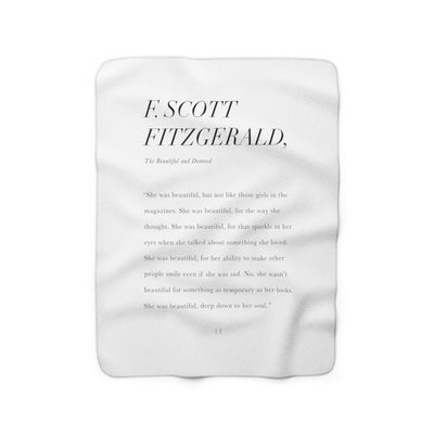 The She Was Beautiful | Sherpa Fleece Blanket