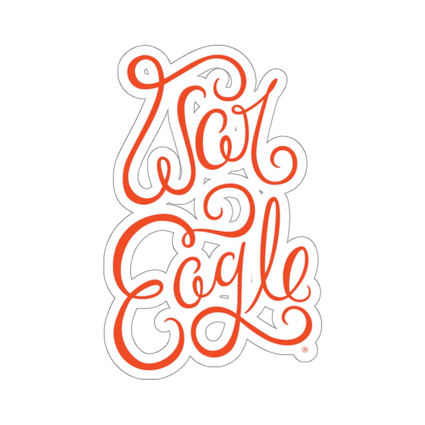 The War Eagle Script | Sticker