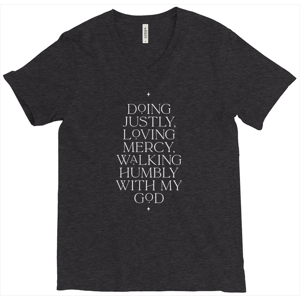 The Doing Justly | Triblend V-Neck Tee