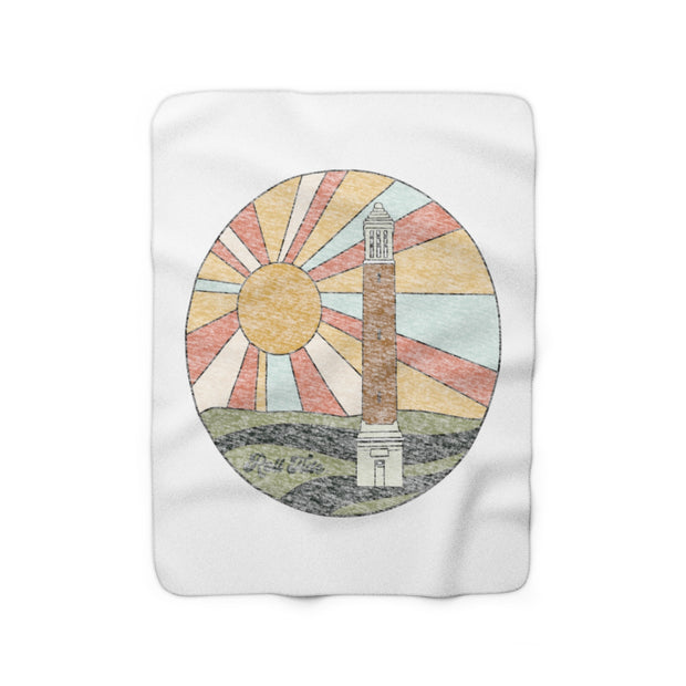 The Denny Chimes Sunset | Sherpa Fleece Blanket