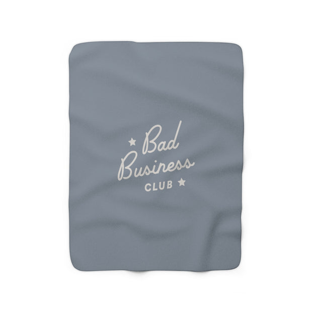 The Bad Business Club Blue | Sherpa Fleece Blanket