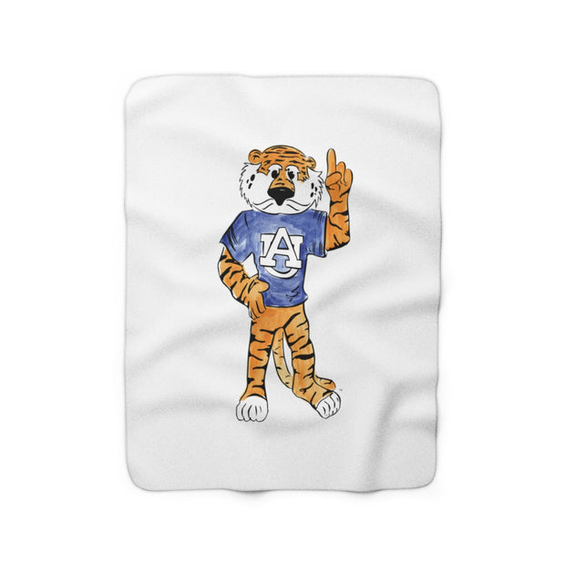 The Aubie | Sherpa Fleece Blanket