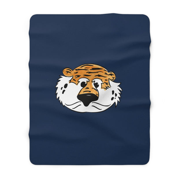 The Aubie Head | Sherpa Fleece Blanket