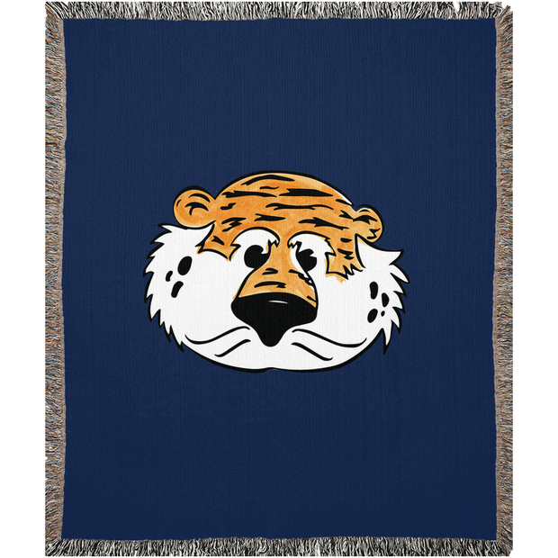 The Aubie Head | Woven Blankets