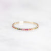 The  Rainbow Eternity | Dainty Ring