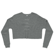 The Stay In Your Lane | Crop Sweatshirt