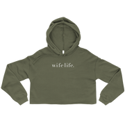 The Wife Life | Crop Hoodie