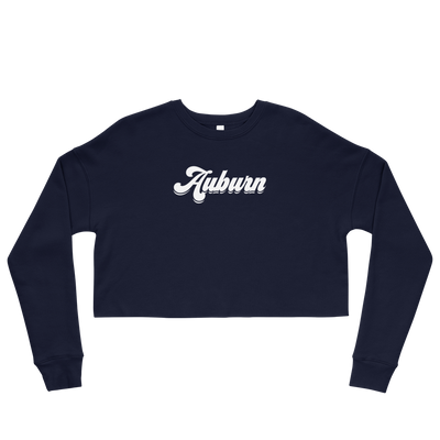 The Auburn Retro | Crop Sweatshirt