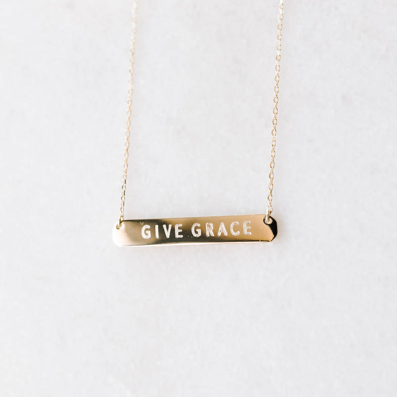 Give Grace Bar | Necklace