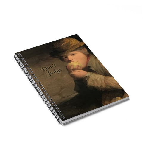 Don't Judge Funny Renaissance Style Notebook