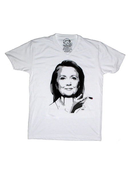 Funny Hillary Clinton Smoking Marijuana Joint Shirt